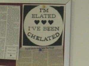 chelation sign
