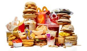 pile of McDonald's products