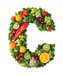 letter C made of produce