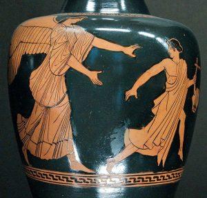 vase showing Eos chasing Tithonius
