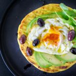 egg, avocado & olive breakfast