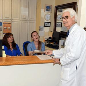 Dr. Joe with team members