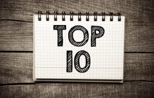 "notebook page that says ""top 10"""